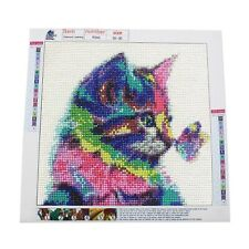 DIY 5D Diamond Painting Full Kits Cat Butterfly Crystal Rhinestone Embroidery