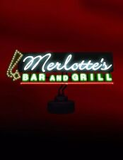 TRUE BLOOD MERLOTTE'S BAR & GRILL NEON SIGN (FACTORY SEALED, BRAND NEW), RARE