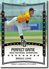 (12) BROCK LOVE 2014 Leaf *PERFECT GAME*  Baseball Rookie RC LOT