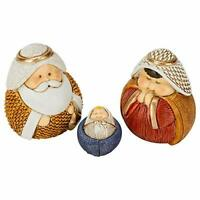 Wide Nativity Multicolored 2 inch Resin Stone Christmas Figurines Set of 11