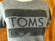 Toms Shoes Women's Medium Printed Short Sleeve T-Shirt Gray