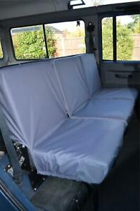 Grey Tailored Waterproof Seat Covers Rear 3 for Land Rover Defender 1983-2007