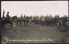 Wiltshire PH 1915 Inspection by King George V Larkhill Camp