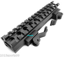 Tactical Rifle Scope Mount Double Rail Angle Mount Quick Detach Picatinny Rail *
