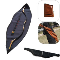 Archery Traditional Bow Bag Case Cover Waterproof Longbow Recurve Bow Leather