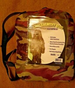 WFS Element Gear Lightweight Ghillie Suit Concealment Hunting With Hood Sz M/L