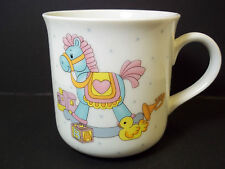 Child's china mug Napco Japan Rocking Horse & toys 8 oz