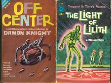 DAMON KNIGHT Avon Double Novels Science Fiction OFF CENTER, Light of Lilith MORE