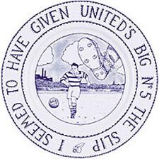 """Glen Baxter Football PLAQUE """"JE semblait avoir donné United's Big Nº 5 LE SLIP"""""""