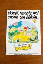 BAMBI - Dossier Presse - WALT DISNEY ressortie