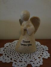 "Faith Stones ""Jesus loves you"" Praying Angel Statue by Roman Inc"