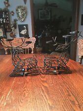 Decorative Metal Reindeer Tea Light Holders (2)