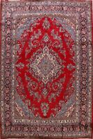 Vintage Floral Red Shahrbaft Hamedan Area Rug Traditional Living Room Wool 11x13
