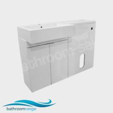 MyPlan 1200 Left Hand Basin & Top Gloss White Furniture Bathstore | RRP: £789