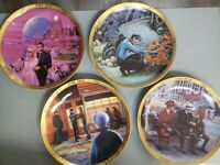 LOT OF 4 Star Trek Collector's Plates 20th anniversary Commemorative Collection