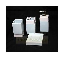 Quadrato 4PZ in Ceramica Bagno Accessorio Set Tumbler Lozione Dispenser TURCHESE