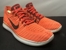 Nike Running Free RN Flyknit Crimson Black Shoes 831069 Mens Size 8.5 Fast Ship!
