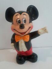 Vintage Hard Plastic Mickey Mouse Bank Walt Disney Productions Korea