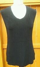Coldwater Creek Size S Slinky  Sleeveless  Black  Solid  Top Shell Blouse