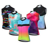 Women's Reflective Cycling Vest Shirt Ladies Sleeveless Cycling Jersey Cycle Top