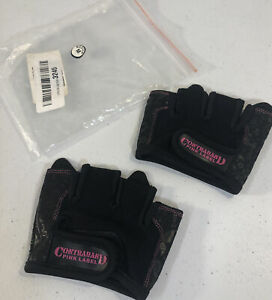 Contraband Pink Label Womens MICRO Lifting Gloves, Pair Black Size M Paisley NEW