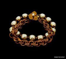 Miriam Haskell faux baroque perles bracelet, difficile & merveilleux, baroque Bracelet