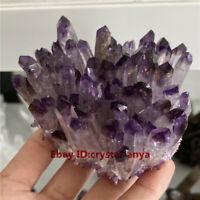 Natural Amethyst Cluster Quartz Crystal VUG Mineral Specimen Reiki Healing 1pc