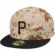 New Era 5950 PITTSBURGH PIRATES MILITARY CAMO Cap MLB Fitted Baseball Hat 7  3/4