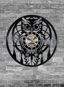 Dream Catcher Owl Wall Clock Office Nursery Boho Decor Dream Catcher Clock
