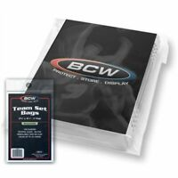 100 BCW Team Set Bags NEW Resealable Sports Card Protect Holder Sleeves Display