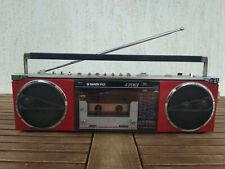 Sanyo M 7780 K Red Mini Boombox Ghettoblaster used
