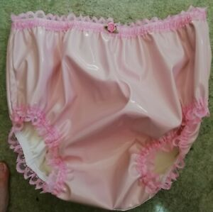 CD ADULT BABY SISSY PINK PVC KNICKERS