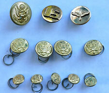 VNT BRASS & Metal US ARMY BUTTONS & PINS WATERBURY Lot of12 Scoville Mixed Sizes