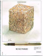 Publicité Advertising 1979 Le Stylo plume Parker par César