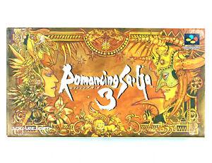 Jeu SNES Romancing Saga 3 Square Soft Boxed import Japonais NTSC-J
