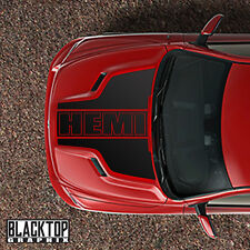 RAM 1500 Sport Hood 3pc Decal Stripe Set HEMI OUTLINE 5.7 MOPAR DODGE