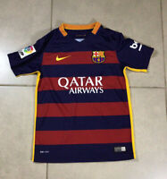 YOUTH Nike FC Barcelona Jersey 2015 2016 Sz S Home Soccer Boy Authentic DRI-FIT