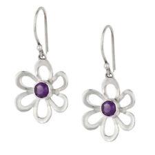 Orecchini di lusso con gemme pendenti viola argento
