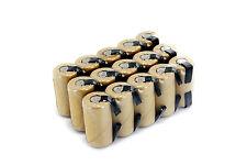 15 Tenergy NiCd SubC 2200mAh Batteries For PowerTools - (Paper, w/ Tabs)