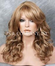WOW Heat Safe Long Wavy Curly Light Blonde mix Wig WBBL 14-24
