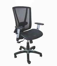 Executive Medium Back Office Chair - Black Breathable Mesh Backrest