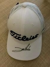 Titleist DP World Golf Cap with autograph of the winner 2019 Jon Rahm