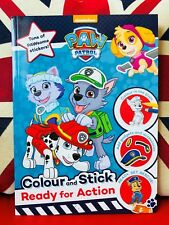 PAW Patrol: Colour and Stick Ready for Action Sticker Book (Paperback 2018) New