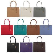 JOY & IMAN Genuine Leather Hollywood Glamour Handbag With Goldtone Frame