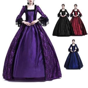 Retro Women Medieval Victorian Dress Costume Party Renaissance Dress Ball Gowns