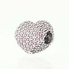 New Authentic Pandora abrir mi corazón Pave Clip Encanto-Sterling CZs Rosa 791427PCZ