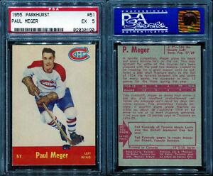 1955 PARKHURST #51 PAUL MEGER PSA 5 (0190)