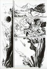 CONAN ROAD OF KINGS #5 ORIGINAL COMIC ART PAGE SPLASHY CLASSIC SWORD AND SORCERY