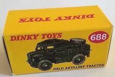 DINKY 688 Field Artillery Tractor RIPRODUZIONE SOLO SCATOLA VUOTA
