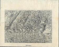 Stampa antica BRIENNO piccola veduta Lago di Como 1886 Old antique print
